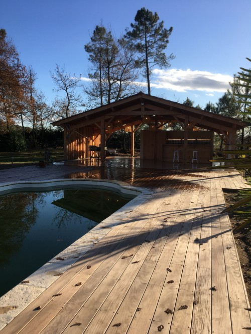 A Pool House in the Landes region